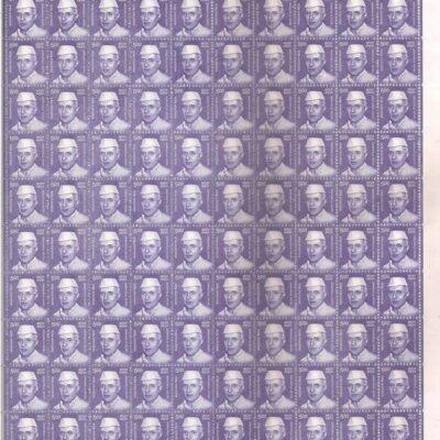 India 2015 Jawaharlal Nehru 5 Rs 11th series definitive stamp Full sheet
