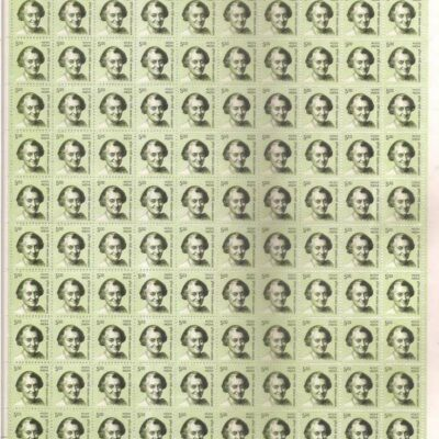 India 2008 Indira Gandhi 5 Rs 11th series definitive stamp Full sheet