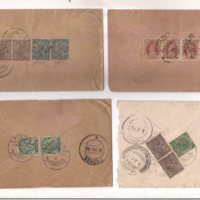 India postally used covers 1928-1940 period