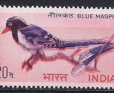 India 1968 Birds set, MNH/MLH, significant color shift in 20p stamp
