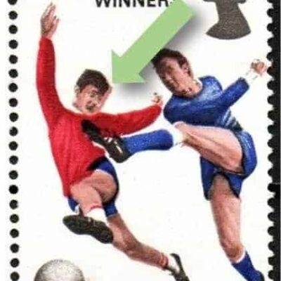 Great Britain 1966 World Cup stamps