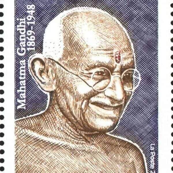 France Gandhi 150 years stamp