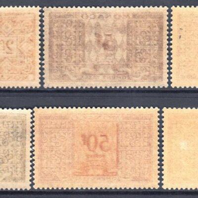 Monaco 1946-57 Postage Due SCJ31/38/38A