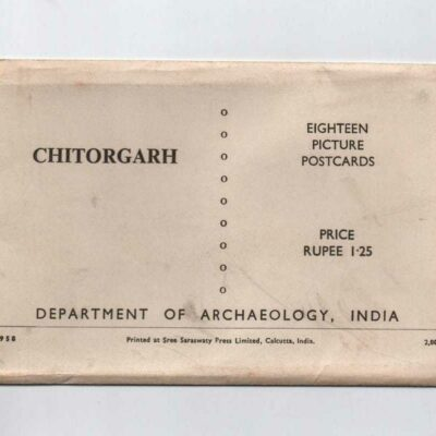 Dept of Archeology 18 postcards of Chitorgarh 1958