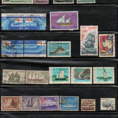 Thematic collection Ships on stamps