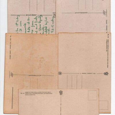 Old Indian postcards, 5 PCs