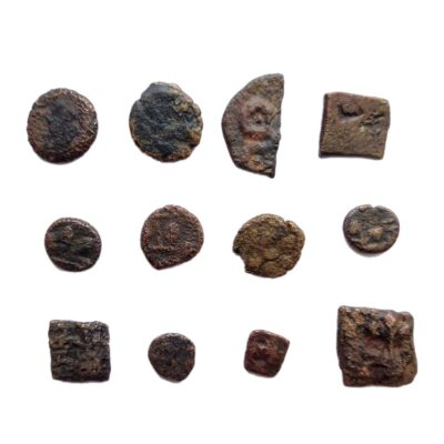 Ancient India coins lot of 12 coins