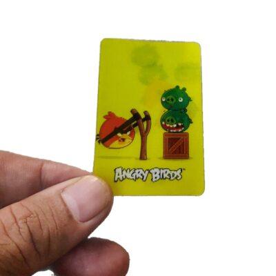 Gems Angry Bird 3D cards, 2 cards