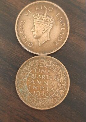 One Quarter Anna 1940