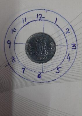 Error 1 Rs 6'oclock coin