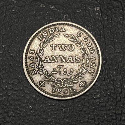 Victoria Queen Continuous Legend 2 Anna Madras mint