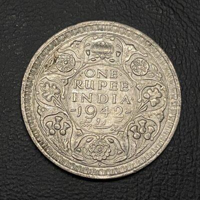 King George VI 1942 Bombay mint silver rupee