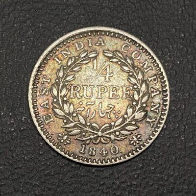 Victoria Queen Continuous Legend 1/4 rupee