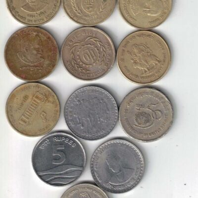 25 COINS 5RS USED ALL DIFFERENT