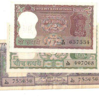 4 NOTE SET DIAMOND 2RS 5RS 10RS 100 RS UNC NEW CONDITION