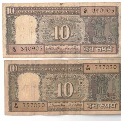 4 NOTES 10 RS BOTT USED 4 GOVERNOR SIGN