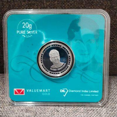 Sachin Tendulkar Edition 20 Gm Swiss Silver Coin Of 999.9 Purity