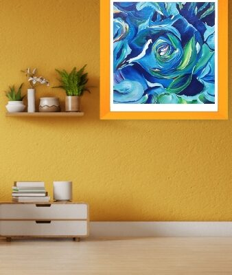 ABSTRACT_BLUE ROSE