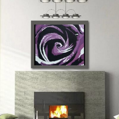 ABSTRACT_PURPLE AND BLACK ROSE