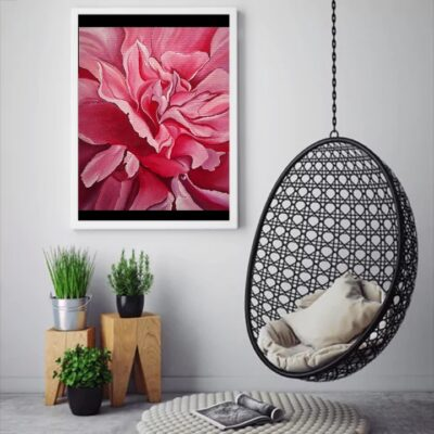 ABSTRACT_BLOOMING PINK PEONY