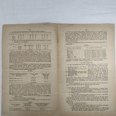 Baroda, Western States & Gujarat State Agency Gazette, 1945, 10 pages