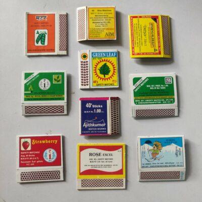 Matchbox labels – 10 labels lot, flora and fauna