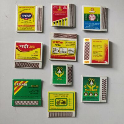 Matchbox labels – 10 labels lot, daily life objects