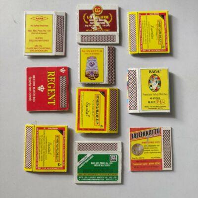 Matchbox labels – 10 labels lot, mix lot
