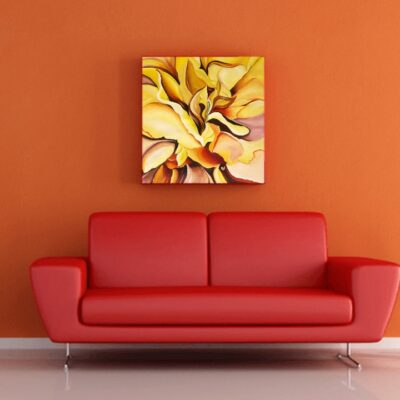 ABSTRACT_BLOOMING YELLOW PEONY
