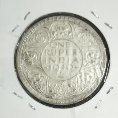King George VI 1 Rupee XF Condition Year 1940