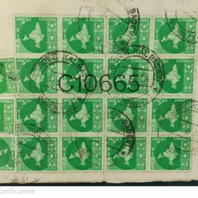 Commercially Used Cover with Map stamps India C10665