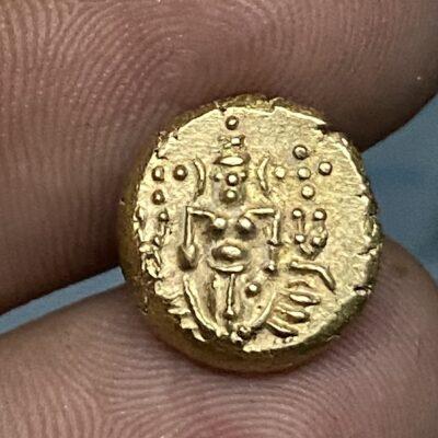 Indo dutch Gold pagoda, Single swamy type, 3.4 grams