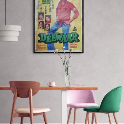 Vintage Bollywood Movie Posters – Deewar 30″x40″ original poster