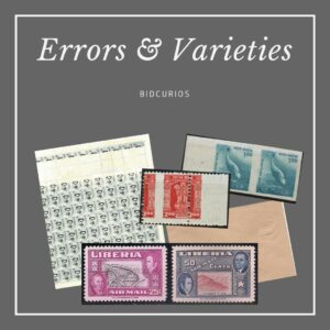 Errors/Variety - Stamps