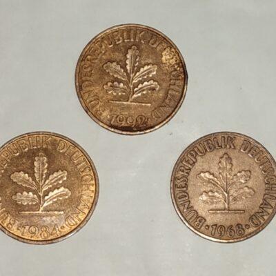 Germany, Deutsche Mark 10 Pfennig Mint Mark A & D Mixed Years