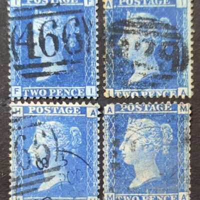 2d Blue ( superb Used stamps )
