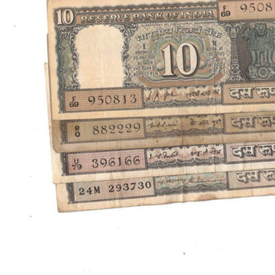 8 PCS 10RS BOAT USED SIGN 8 GOVERNER RARE