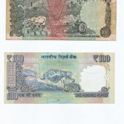 100 RS Notes 7 Different Notes different governors