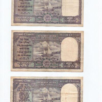 10Rs Fafda Notes, Three governors Rama Rau, Iengar, Bhattacharya