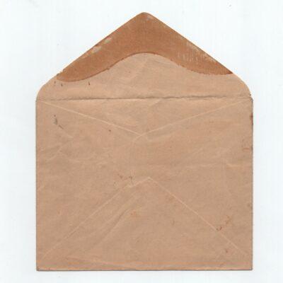 India 1942 KGVI 1a3p bistre Mint Envelope with original gum, high CV