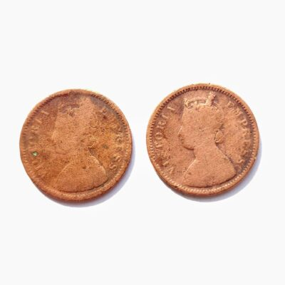 Victoria Empress 1/2 Pice Two Coins 1888 and 1897