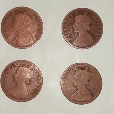 Queen Victoria Quarter Anna Mixed Years lot of 4 Coins