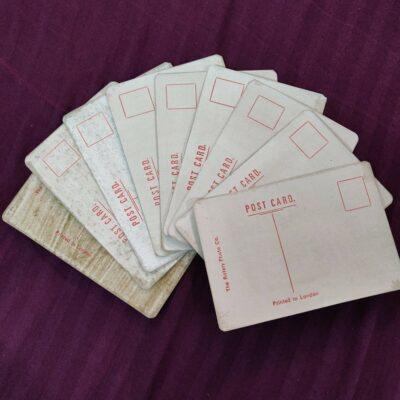 Gandhi old postcards, lot of 12 postcards (v)