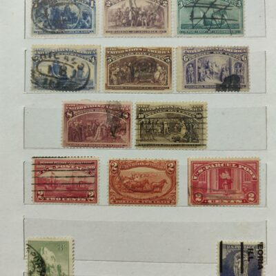 USA Stamp Album with 200+ stamps