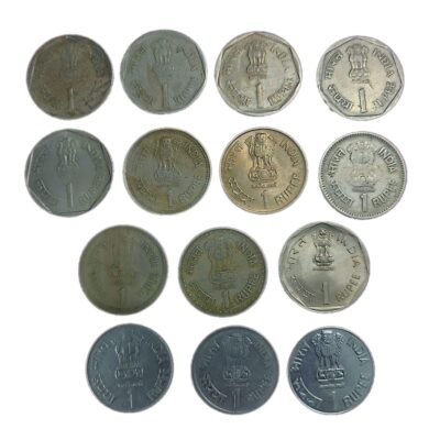 1 Rs Commemorative Coins lot of 14 different coins