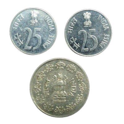 Foreign Mint coins 25 paise Canada mint and 50 paise Taegu Korea mint