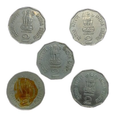 Foreign Mint coins 2 Rs Pretoria, Moscow, Seoul and Tower Mints
