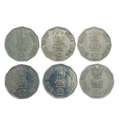 Foreign Mint coins 2 Rs Pretoria and Seoul Mints 6 coins