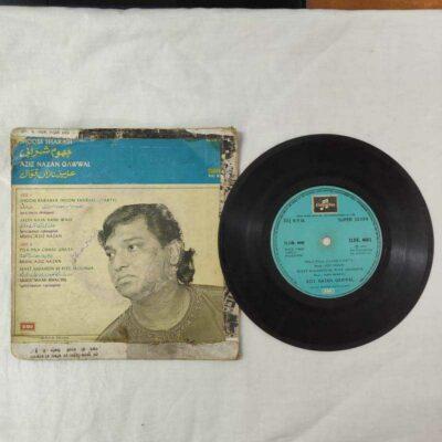 Vintage Bollywood EP 7″ 45 rpm vinyl record of Aziz Nazan Qawwal – Jhoom Barabar Jhoom Sharabi