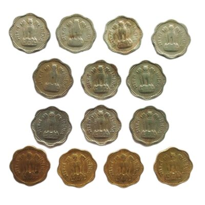 10 paise Copper-Nickel and Nickel-Bronze lot of 14 different coins